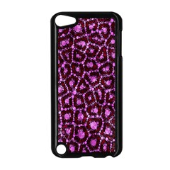 Cheetah Bling Abstract Pattern  Apple Ipod Touch 5 Case (black) by OCDesignss