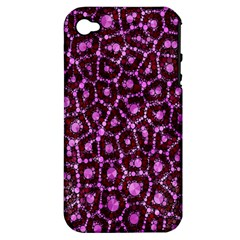 Cheetah Bling Abstract Pattern  Apple Iphone 4/4s Hardshell Case (pc+silicone) by OCDesignss