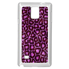 Cheetah Bling Abstract Pattern  Samsung Galaxy Note 4 Case (white) by OCDesignss