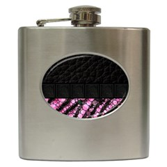 Pink Tiger Bling Hip Flask