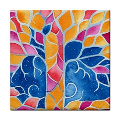 Yellow Blue Pink Abstract  Ceramic Tile by OCDesignss