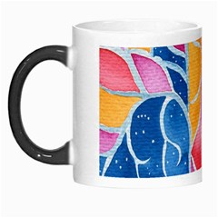 Yellow Blue Pink Abstract  Morph Mug