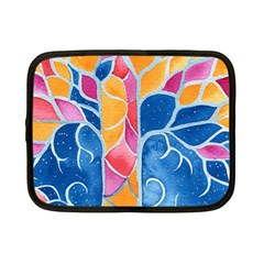 Yellow Blue Pink Abstract  Netbook Sleeve (small)
