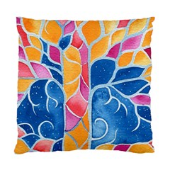 Yellow Blue Pink Abstract  Cushion Case (two Sided)