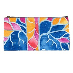 Yellow Blue Pink Abstract  Pencil Case by OCDesignss