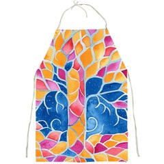 Yellow Blue Pink Abstract  Apron