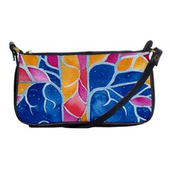 Yellow Blue Pink Abstract  Evening Bag