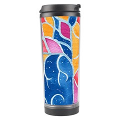 Yellow Blue Pink Abstract  Travel Tumbler