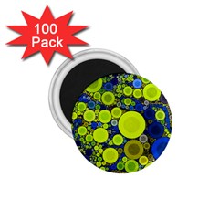 Polka Dot Retro Pattern 1 75  Button Magnet (100 Pack)