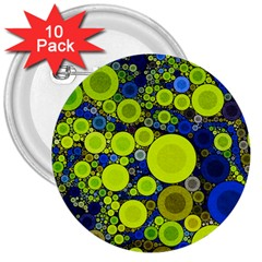 Polka Dot Retro Pattern 3  Button (10 Pack)