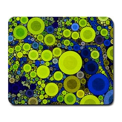 Polka Dot Retro Pattern Large Mouse Pad (rectangle) by OCDesignss