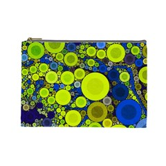 Polka Dot Retro Pattern Cosmetic Bag (large)