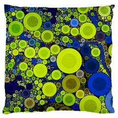 Polka Dot Retro Pattern Large Cushion Case (single Sided)