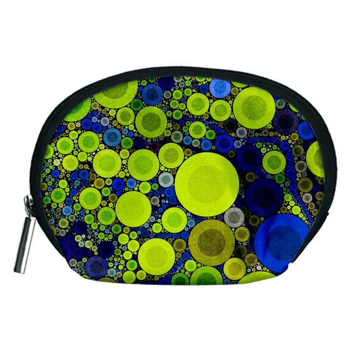 Polka Dot Retro Pattern Accessory Pouch (Medium)