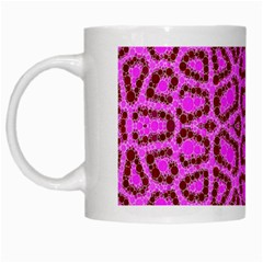 Florescent Pink Animal Print  White Coffee Mug by OCDesignss