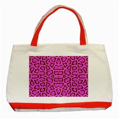 Florescent Pink Animal Print  Classic Tote Bag (red)