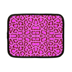 Florescent Pink Animal Print  Netbook Sleeve (small) by OCDesignss