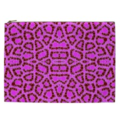 Florescent Pink Animal Print  Cosmetic Bag (xxl) by OCDesignss