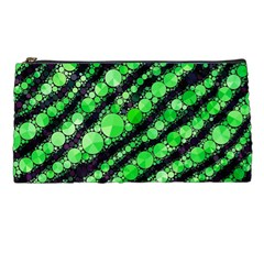Florescent Green Tiger Bling Pattern  Pencil Case by OCDesignss