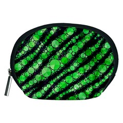 Florescent Green Tiger Bling Pattern  Accessory Pouch (medium) by OCDesignss