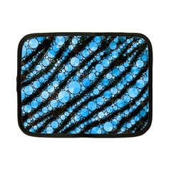 Bright Blue Tiger Bling Pattern  Netbook Sleeve (small)