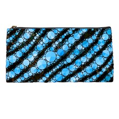 Bright Blue Tiger Bling Pattern  Pencil Case by OCDesignss