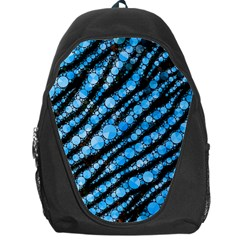 Bright Blue Tiger Bling Pattern  Backpack Bag by OCDesignss