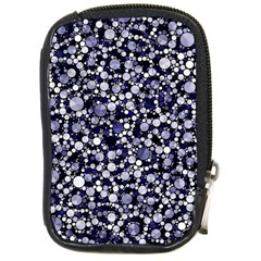 Lavender Cheetah Bling Abstract  Compact Camera Leather Case by OCDesignss