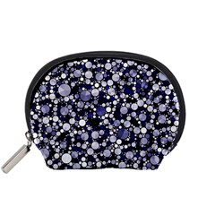 Lavender Cheetah Bling Abstract  Accessory Pouch (small)