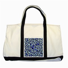 Bright Blue Cheetah Bling Abstract  Two Toned Tote Bag by OCDesignss