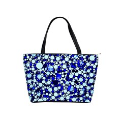 Bright Blue Cheetah Bling Abstract  Large Shoulder Bag by OCDesignss