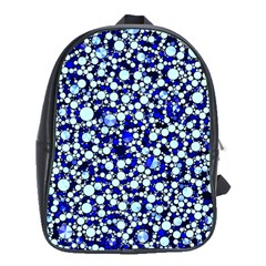 Bright Blue Cheetah Bling Abstract  School Bag (large) by OCDesignss