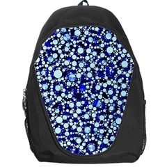Bright Blue Cheetah Bling Abstract  Backpack Bag by OCDesignss