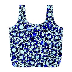 Bright Blue Cheetah Bling Abstract  Reusable Bag (l) by OCDesignss