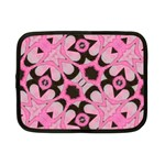 Powder Pink Black Abstract  Netbook Sleeve (Small) Front