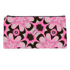 Powder Pink Black Abstract  Pencil Case by OCDesignss