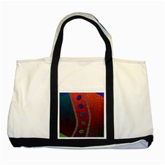 Funky Florescent Sassy Lips  Two Toned Tote Bag by OCDesignss