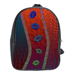 Funky Florescent Sassy Lips  School Bag (xl) by OCDesignss