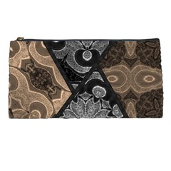 Crazy Beautiful Black Brown Abstract  Pencil Case by OCDesignss