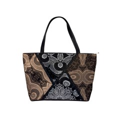Crazy Beautiful Black Brown Abstract  Large Shoulder Bag by OCDesignss