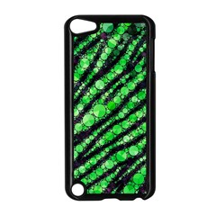 Florescent Green Tiger Bling Pattern  Apple Ipod Touch 5 Case (black) by OCDesignss