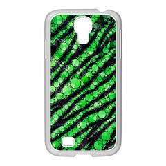 Florescent Green Tiger Bling Pattern  Samsung Galaxy S4 I9500/ I9505 Case (white)