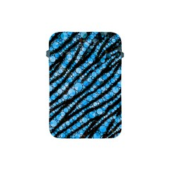 Bright Blue Tiger Bling Pattern  Apple Ipad Mini Protective Sleeve