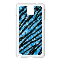 Bright Blue Tiger Bling Pattern  Samsung Galaxy Note 3 N9005 Case (white) by OCDesignss