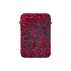 Florescent Pink Leopard Grunge  Apple Ipad Mini Protective Sleeve by OCDesignss