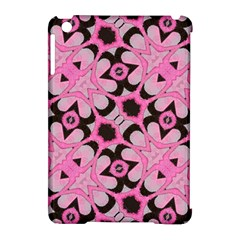 Powder Pink Black Abstract  Apple Ipad Mini Hardshell Case (compatible With Smart Cover) by OCDesignss