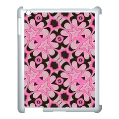 Powder Pink Black Abstract  Apple Ipad 3/4 Case (white)