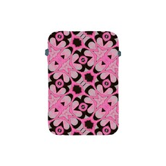 Powder Pink Black Abstract  Apple Ipad Mini Protective Sleeve by OCDesignss