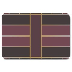 Vertical And Horizontal Rectangles Large Doormat by LalyLauraFLM
