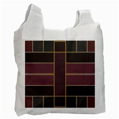 Vertical And Horizontal Rectangles Recycle Bag (two Side) by LalyLauraFLM